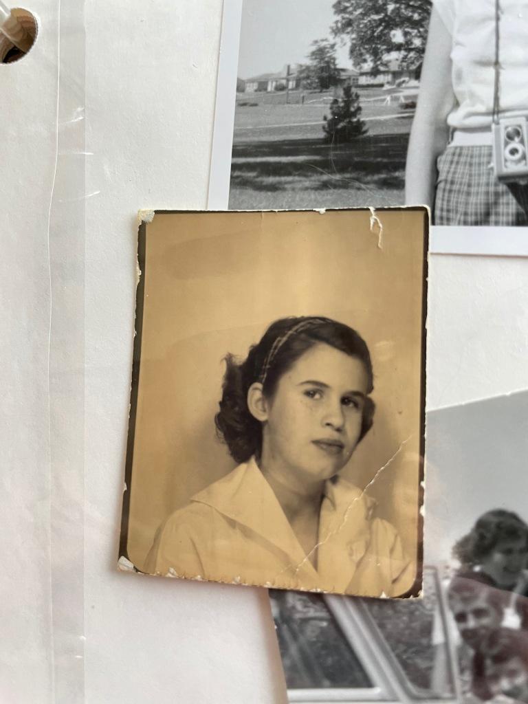 My mom as a child having a portrait taken